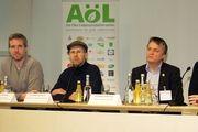 Podiumsdiskussion auf der Biofach - unter anderem mit Hilde Fauland-Weckmann vom Bio-Unternehmen Märkisches Landbrot.