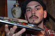 Andreas Röthenbacher ist mit seinen kreativ belegten Broten unterwegs.