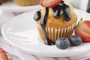 Muffins: Sandmasse in abgewandelter Rezeptur und Dekor.