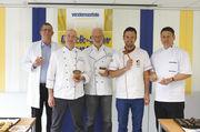 Back-Star-Jury (von links): Wolf-Andreas Richter (ABZ/KoCa), Michael Nemeyer, Bernd Mestekemper (Vandemoortele), Robert Schorp (Akademie Weinheim) und Jürgen Rieber (Wiesheu).
