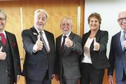 Das neue Präsidiumsteam blickt zuversichtlich in die Zukunft (von links): Karl-Heinz Hoffmann, Vizepräsident Heribert Kamm, Präsident Micheal Wippler, Maren Andresen und Vizepräsident Wolfgang Schäfer.