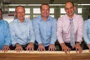 Die Nachfolge ist in der Stadtbäckerei geregelt (von links): Wolfgang, Johannes und Frank Schultheiß, Björn Malig, Christian Schultheiß.