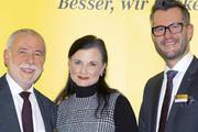 Im Gespräch (von links): Michael Wippler, Gitta Connemann und ZV-Hauptgeschäftsführer Daniel Schneider.