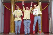 Klaus, Heinz und Max Kugel (von links) haben als Sieger der TV-Show allen Grund zur Freude.