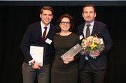 Dominic Krätz (von links) bei der Preisverleihung mit Gewinnerin Isabella Krätz und Christof Krätz.