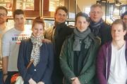 Die jungen Meister beim Treffen in der Bäckerei Dams in Wesel.