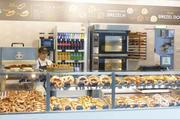Brezelkönig-Shop in Graz mit pikantem und süßem Brezelangebot sowie belegten Kleingebäcken.