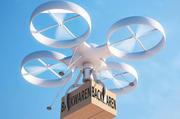 Machbar: Bereits heute werden Waren von Drohnen zum Kunden gebracht.
