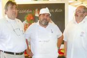 Ein eingespieltes Team (von links): Peter, Willi und Michael Schiestel.