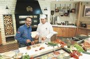 Burger-Bau: Markus Brod von Salomon (l.) und Christian Bergfeld von der Bundesakademie Weinheim.