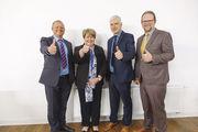 Der geschäftsführende Vorstand (von links): Michael Winter, Judith Sauter, Landesinnungsmeister Martin Reinhardt und Eberhard Binder.