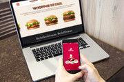 Per Smartphone schnell den Snack bestellen und dann liefern lassen.