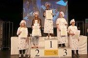 Die Besten: Cindy Schneider, Lisa Wagner (2. Platz), Caroline Knaier (1. Platz), Melanie Wörz (3. Platz) sowie  Sarah Bücheler.