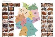 Karte des Brotlandes Deutschland: Die regionalen Spezialitäten sind über Zahlen zugeordnet.