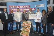 Waren an der Aktion beteiligt (v. l.): Harald Hüsers (Innungsgeschäftsstelle), Berthold Heidkamp (Bäckerinnung), Petra Hengst, Christian Hüser (Freiwilligenzentrum), Günther Hoyng (Obermeister), Petra Menger (AOK).