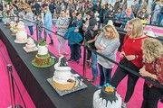 """Ansturm auf die neue Messe """"My Cake"""": Von Torten geht eine große Anziehungskraft aus."""