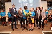 Miss und Mister Handwerk 2018: Ramona Brehm und David Kunkel unter anderem mit Hans Peter Wollseifer, Präsident des Zentralverbands des Deutschen Handwerks (links).