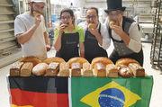 Deutsch-brasilianischer Austausch (von links): Daniel Diepenbrock, Jessica Brabo, Joáo Bandeira und Marc Mundri.