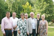 Der Vorstand der Bäckerinnung Nord (von links): Stefan Scharbau, Hans-Jürgen Tackmann, Landesinnungsmeisterin Maren Andresen, Jürgen Wagner, Obermeister Holger Rathjen, Andreas Seßelberg und Kirsten Sköries.
