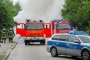 Feuerwehren aus dem gesamten Umkreis waren an den Brandort gekommen.