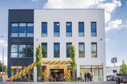 Das neue Café-Haus im Pfullinger Gewerbegebiet.