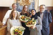 OM Körner (v.l.), Katharina Martin, Silja Wittstock, Mursal Popal und Lehrlingswart Vollstädt.