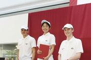 Siegerin Asami Kira (Mitte), Luca Gabellini (links) und Markus Seidl.