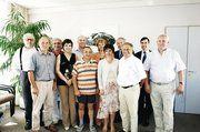 Die ungarischen Kollegen unter Führung des Verbandspräsidenten Boldizsar Ilonka (Mitte hinten) mit ihren Stuttgarter Gastgebern.