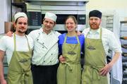 Verstehen sich (von links): Maximilian Tauer, Bäckermeister Guido Tauer, Freda und Friedrich von Gilsa.