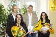 Die Besten wurden vorgestellt und ausgezeichnet (von links): Jan Ulrich Fritz und Michael Geiping sowie Patricia Shainin und Carina Lopez.