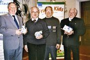 Verabschiedung und Ehrungen bei der Bäko Südbaden. Ludwig Eckerle, Karl Strittmatter, Fritz Kahlhaupt, Wilfried Landmann (von links).