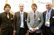 Die Backwaren mit Goldkeimlingen präsentierten Dieter Rudoletzky (v. l.) und Marc Härdtner zusammen mit Dr. Wolfgang Wiesner und Dr. Manfred Otto.