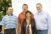 Die zum Gruppenfoto anwesenden Mitglieder des neuen Vorstandes des Bäcker-Fachverein Untermain (von links) Jürgen Wetteskind, Rudolf Kämmerer, Friederike Borgwadt und Werner Hanf.