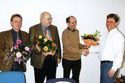 Der neue Obermeister Jens Herzog dankte den aus dem Ehrenamt scheidenden Kollegen Peter Goebecke, Wolfgang Stohl und Lutz George (von rechts).