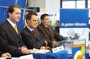 Bei der Podiumsdiskussion der Handwerksjunioren in München (von links): Alexander Dobrindt, Daniel Bahr und Hans Stumpf.