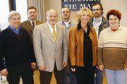 Auf der Versammlung in Mannheim (v. l.): Rudi Duttenhofer, Wolfram Gothe, Norbert Magin, Helmut Döringer, Vera Wolf, Peter Kapp, Juliane Ockert.