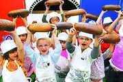 Der Aktionsstand der Bäcker hatte für Groß und Klein vielerlei zu bieten.