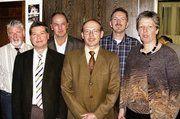 Der alte und neue Fachvereinsvorstand (von links): Ewald Schmider, Berndt Hartmann, Guido Schray, Dieter Kauffmann, Rainer Böhm und Brigitte Ewald.