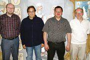 Auf der Versammlung der Innung Lichtenfels: Vorstandsmitglied Lorenz Sünkel, Lebensmittelkontrolleur Andreas Flügel, Obermeister Mathias Söllner und stellv. Obermeister Siegfried Horn (von links).