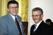 LIM Klaus Hottum verabschiedete Gernot Andermann nach 28 Jahren im Dienst des BIV Hessen.
