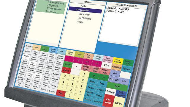 Touch-Kasse für die Einbindung in das B.I.T.-Warenwirtschaftssystem.