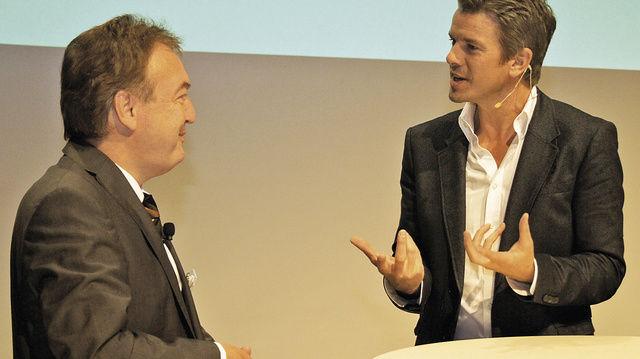 Spitzentreffen auf Augenhöhe: Bäko-Vorstand Holger Knieling hatte namhafte Referenten zu Gast. Unter ihnen der ZDF-Moderator Markus Lanz.  (Quelle: Bäko)