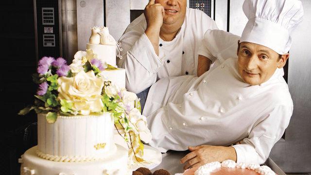 Konditor und Bäcker statt TV-Köche: Frank Steidl (rechts) und Thomas Horn haben eine eigene Fernsehserie.