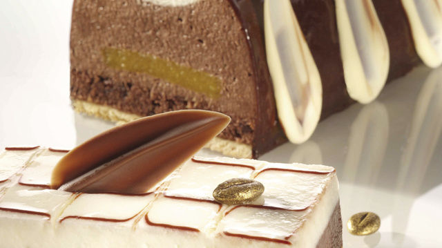 Kaffee und Schokolade sind kreativ kombiniert im Schokolade-Arabica-Fond.