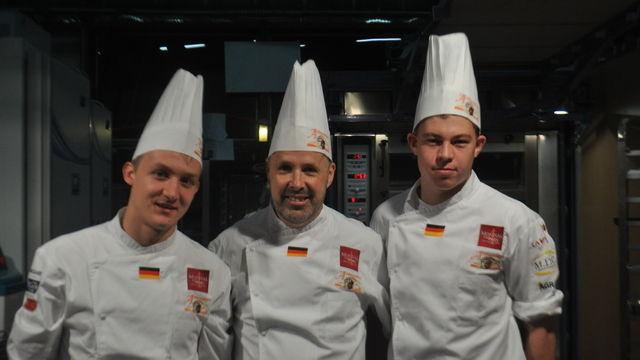 Vertreten bestens die Nationalfarben: Felix Remmele, Siegried Brenneis und Maximilian Raisch.  (Quelle: Verband)