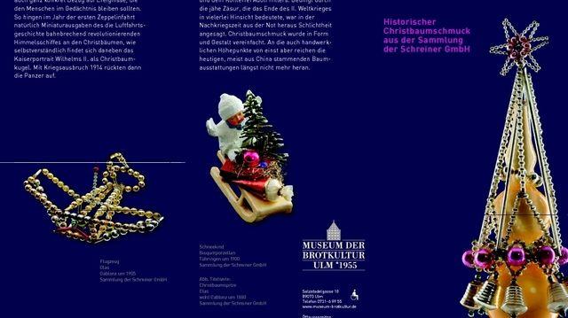 Hochwertiger Christbaumschmuck hat eine lange Tradition.  (Quelle: Museum)