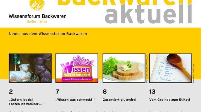 """Titelblatt des neuen Heftes von  """"Backwaren aktuell"""".  (Quelle: Wissensforum)"""