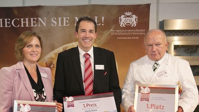 Die glücklichen Preisträger bei der Verleihung auf der Messe Südback.  (Quelle: Rudel)