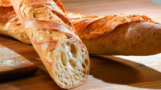 Eine 10-prozentige Vormischung für typisch französische Baguettes.