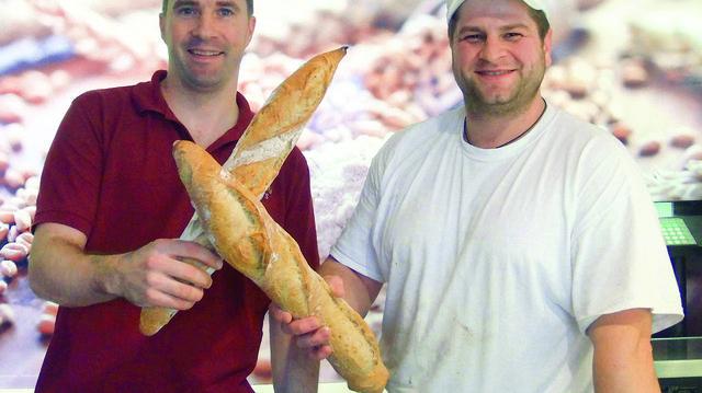 Das beste Baguette in Bayern? Ludovic Gerboin (links) zusammen mit seinem Bäckermeister David Hanus.  (Quelle: Ried)